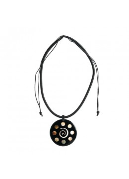 Bali Shell Resin Penden Sliding Necklace From Bali