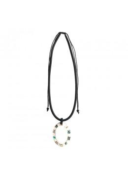 Bali Shell Resin Penden Sliding Necklace New!