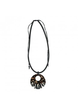 Shell Resin Pendant With Cord Sliding Necklace Affordable