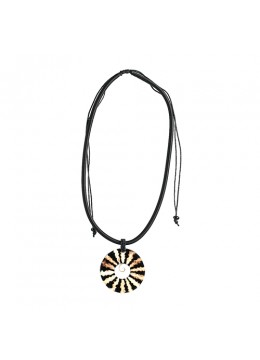 Shell Resin Pendant With Cord Sliding Necklace Manufacturer