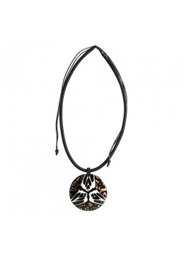 Shell Resin Pendant With Cord Sliding Necklace Best Selling