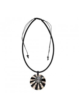 Resin Pendant Shell With Cord Sliding Necklace  Wholesaler