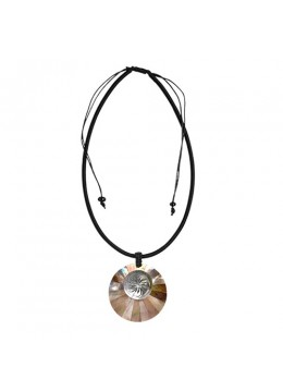 Resin Pendant Shell With Cord Sliding Necklace Prodction