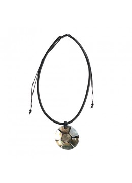 Bali Shell Resin Pendant With Cord Sliding Necklace Wholesale