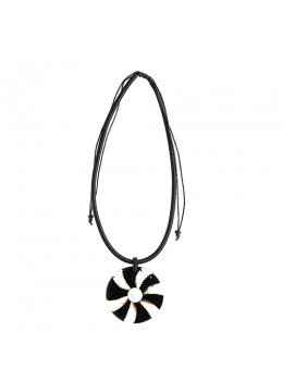 Bali Shell Resin Pendant With Cord Sliding Necklace Affordable
