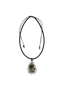 Bali Shell Resin Pendant With Cord Sliding Necklace Best Selling