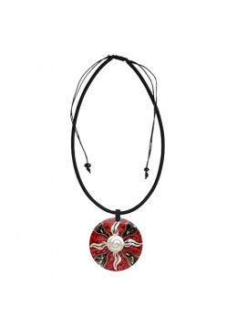 Bali Resin Pendant Shell With Cord Sliding Necklace Hot Seller