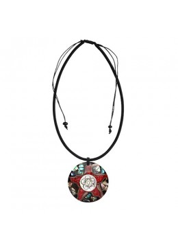 Bali Resin Pendant Shell With Cord Sliding Necklace Prodction
