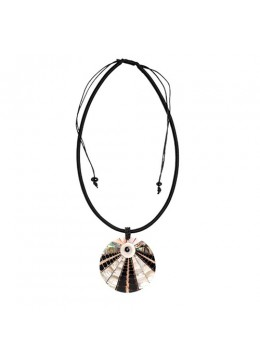 Seashell Resin Pendant Sliding Necklace Bali