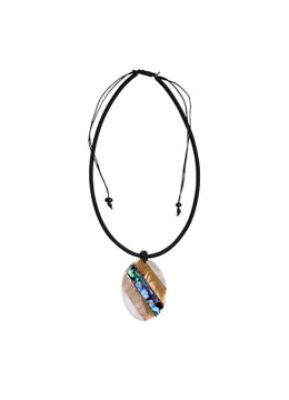 Bali Seashell Resin Pendant Sliding Necklace Wholesale