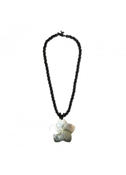 From Bali Resin Pendant Sea mop Shell Beaded Necklace From Bali