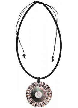 Bali Shell Resin Penden Sliding Necklace Made In Indonesia