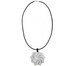 Bali Carved Shell Resin Penden Sliding Necklace From Bali