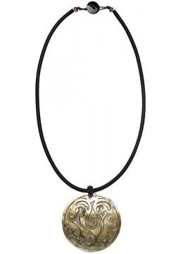 Bali Seashell Resin Pendant Sliding Necklace Prodction
