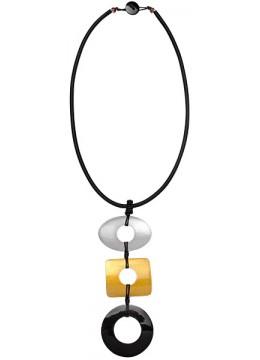 Bali Seashell Resin Pendant Sliding Necklace For Sale