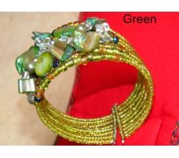 Beaded  Choker - Green