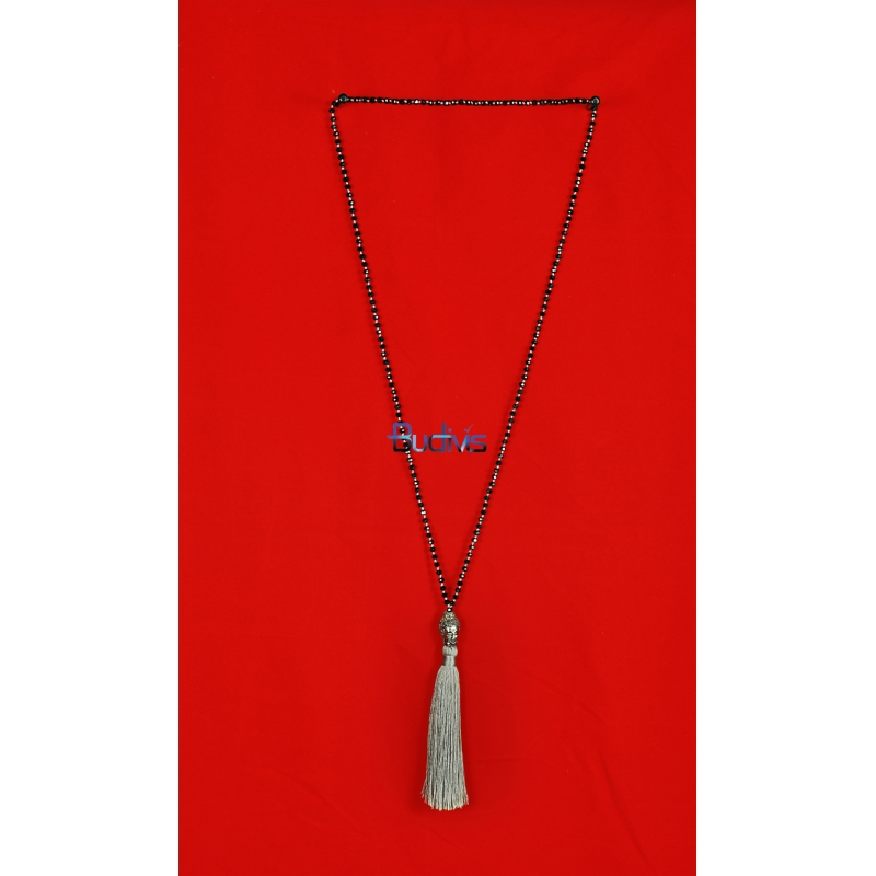 Long Beaded Crystal Tassel Necklaces Buddha