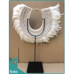 Manufacturer Tribal Necklace Feather Shell Decorative On Stand Home Decor Interior