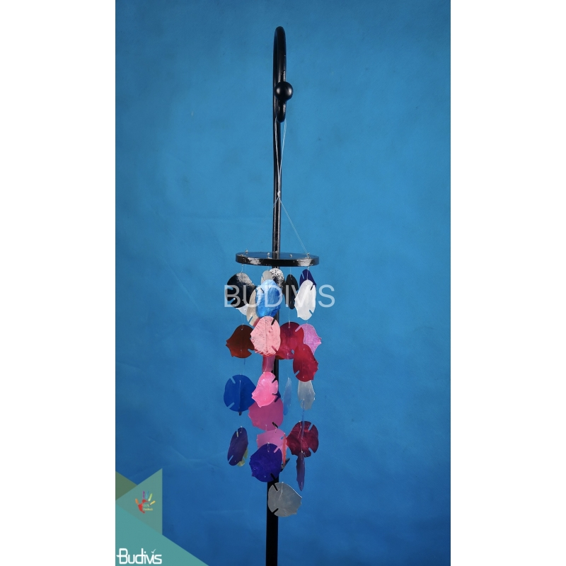 Relaxing Voice Fish Shape Capiz Wooden Wind Chimes