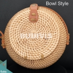 Bowl Style Rattan Bag With Plain Brown Color