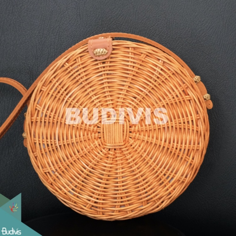Hand Woven Natural Atta Round Bag Best Selling