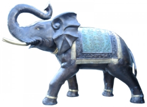 Antique Bronze Art Elephant