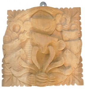 Relief Fish Wood Carving