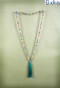 Tassel Necklace Wood Bead
