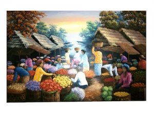Traditional Market Painting
