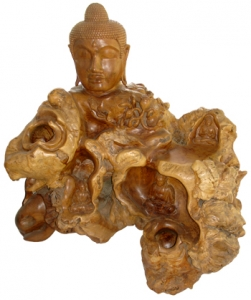 Natural Wood Root Buddha