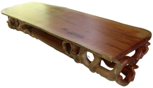 Natural Wood Root Long Table