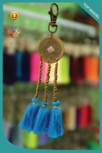 New! China Coin Tassel Keychain