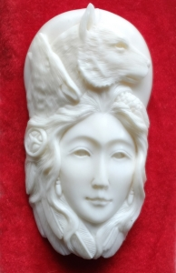 Affordable Bali Bone Carved Pendant Spirit Model