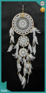 2018 Top SellingTriple Hanging Dreamcatcher Crocheted