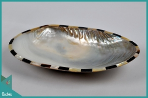 Bali Seashell Plate Decorative Handcraft