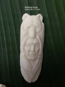 Affordable Bali Ox Bone Carved Carved Pendant Spirit Model