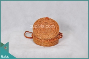 Best Selling Round Bag Flower Native Woven Full Rattan
