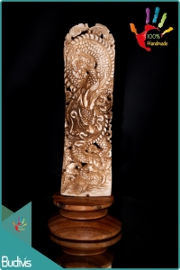100 % In Handmade Dragon Hand Carved Bone Scenery Ornament Wholesale