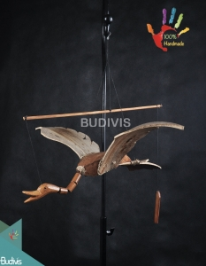 Bali Wholesale Flying Bird Out Door Hanging Bamboo Windchimes