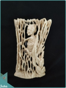 A Skeleton Bone Carving Ornament