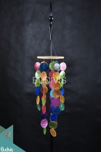 Multi Colours Capiz Rattan Wind Chimes Relaxing  Sound