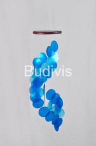 Blue Gradient Spiral Capiz Wind Chimes