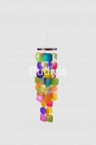 Multi Colors Square and Circle Capiz Wind Chimes