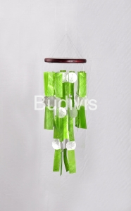 Green Rectangle Capiz Wind Chimes Home Crafting