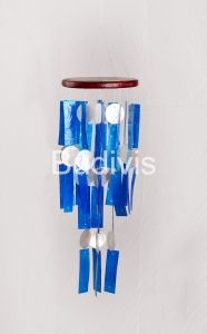 Blue Rectangle Handmade Capiz Wind Chimes