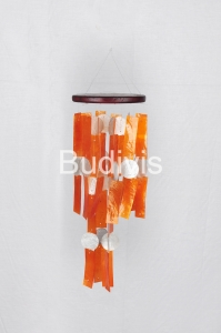 Orange Rectangle Capiz Wind Chimes