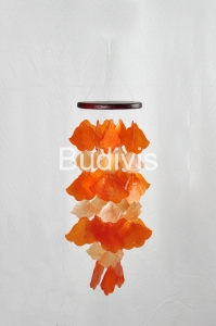 Orange Angels Trumpet Flower Capiz Wind Chimes