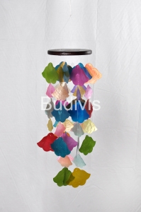 Multi Color Capiz Wind Chimes Flower Shape
