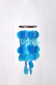 Blue Small Capiz Wind Chimes