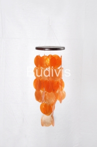 Orange Small Capiz Wind Chimes